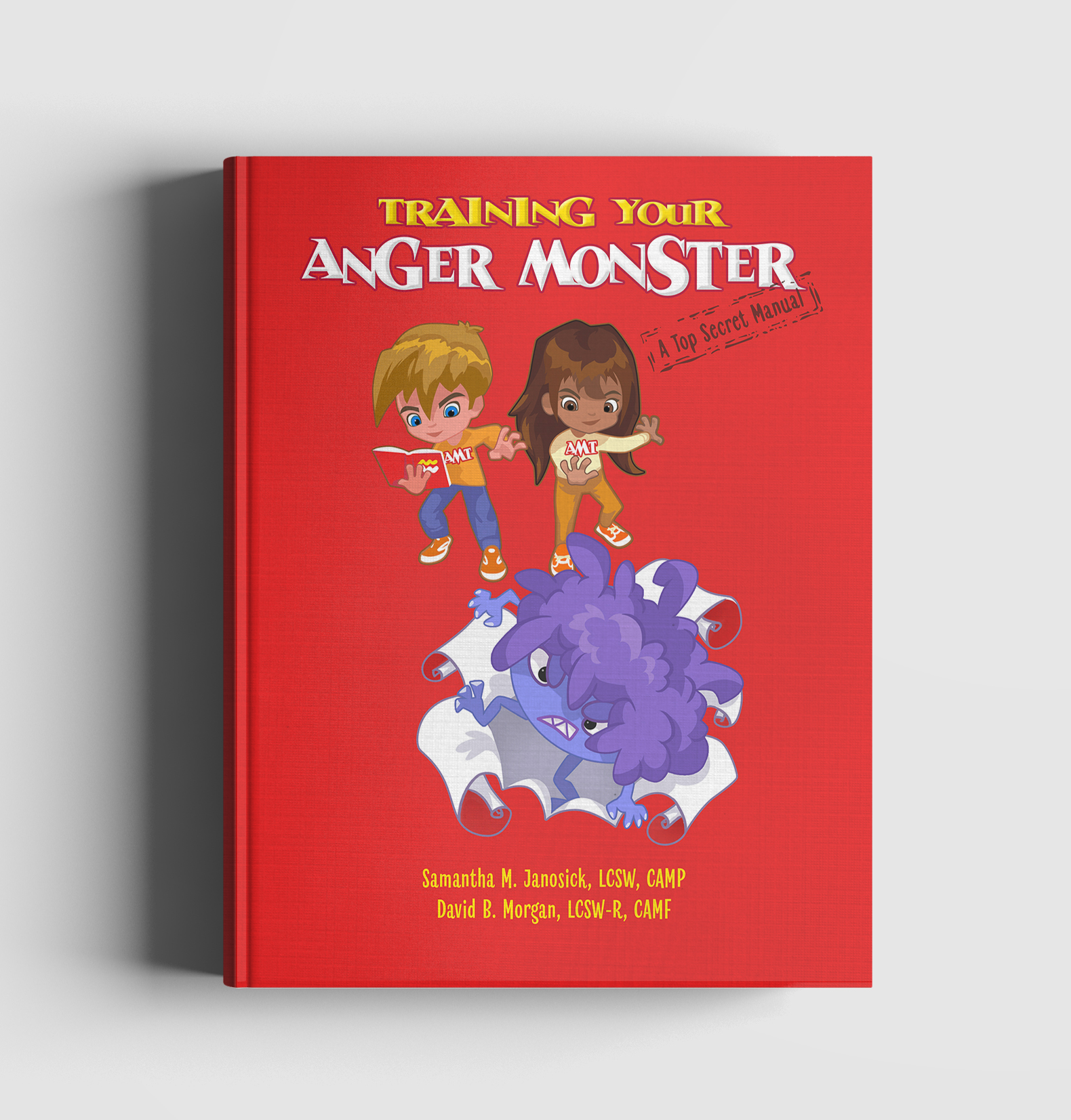anger monster book mockup - Products